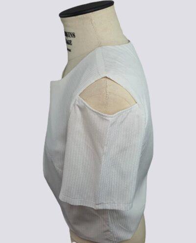 Kit Completo de Molde de Blusa com Amarração Frente Lateral com Manga Vazada – Tecido Plano – Tam.36 ao 56