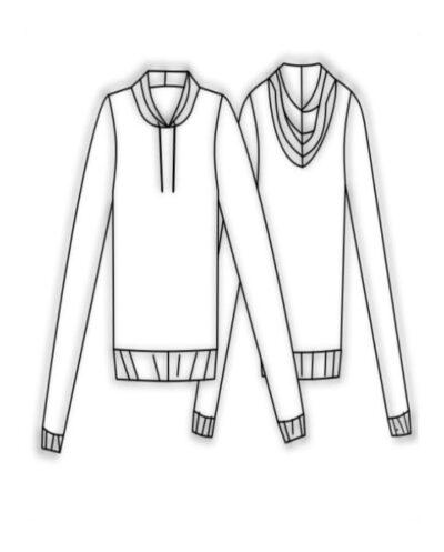 Kit Completo de Molde de Blusa Training Feminino e Masculino – Moletom e Malha – Tam. PP ao GG