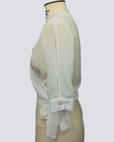 Kit Completo de Molde de Blusa Transpassada com Manga Vazada – Tecido Plano – Tam.36 ao 56