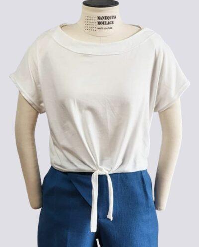 Kit Completo de Molde de T-Shirts com Amarração na Frente Fitness – Malha – Tam. PP ao XXG