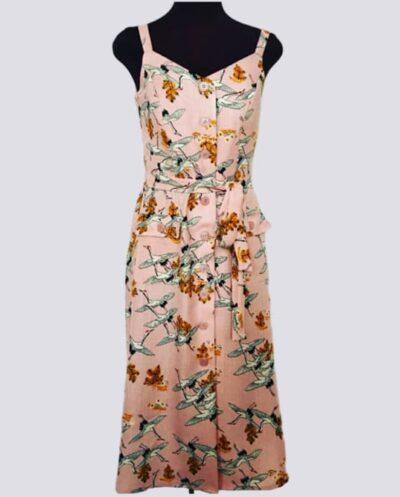 Kit Completo de Molde de Vestido com Abotoamento na Frente e Alça Larga – Tecido Plano – Tam.36 ao 56