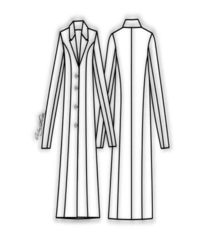 Kit Completo de Molde de Sobretudo Feminino – Tecido Plano – Tam.36 ao 56