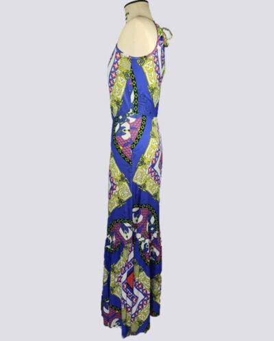 Kit Completo de Molde de Vestido Longo de Alcinha com Franzido no Decote – Tecido Plano – Tam.36 ao 56