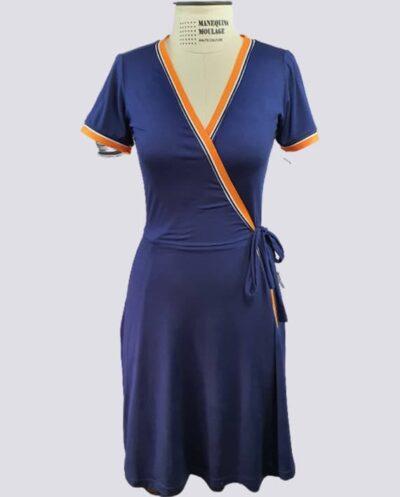 Kit Completo de Molde de Vestido de Malha Transpassado – Malha – Tam.PP ao XXG