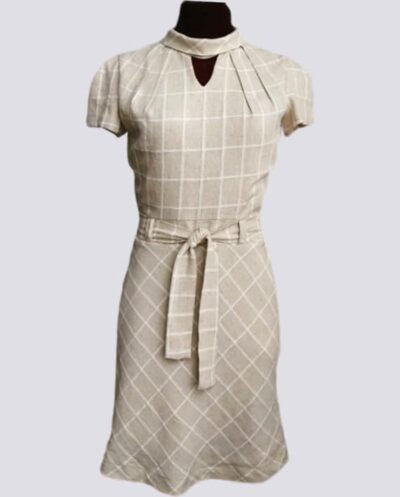 Kit Completo de Molde de Vestido Evasé com Gola Escafandro e Pregas no Decote – Tecido Plano – Tam.36 ao 56