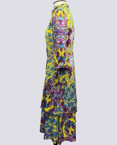 Kit Completo de Molde de Vestido Chemise com Babado Duplo – Tecido Plano – Tam.36 ao 56