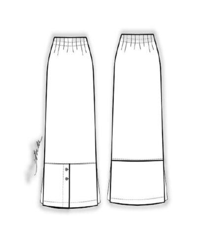 Kit Completo de Molde de Saia Midi com Fendas – Tecido Plano – Tam.36 ao 56
