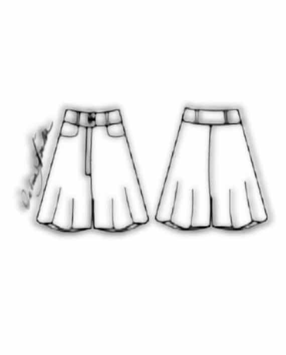 Kit Completo de Molde de Shorts Godê – Tecido Plano – Tam.36 ao 56